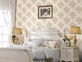 花样壁纸效果图 15款唯美卧室背景墙