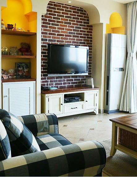 田园风格温馨电视背景墙装修效果图