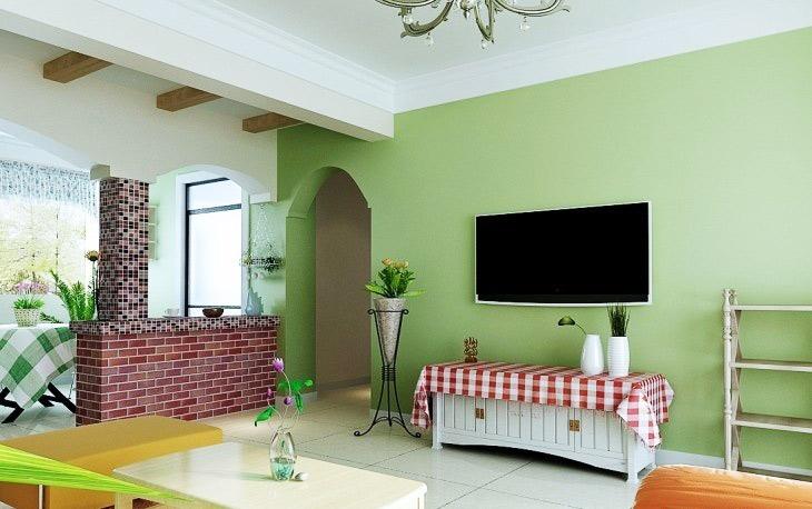 田园风格温馨电视背景墙设计图