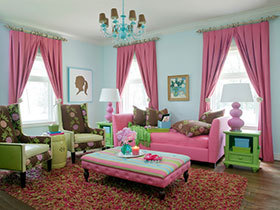 时尚清新客厅 21张彩色茶几效果图