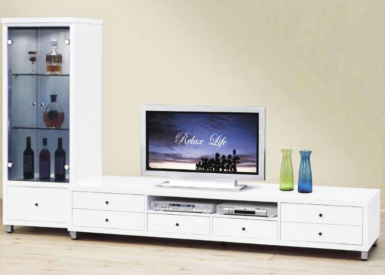 简洁白色电视柜效果图