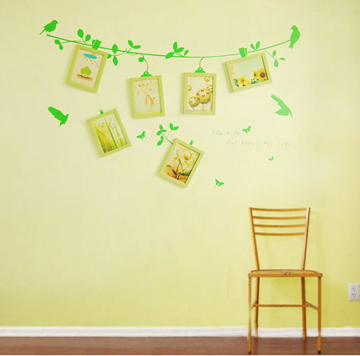 墙贴 照片 15图打造可爱照片墙_齐家网装修效果图