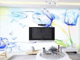 手绘电视背景墙 12款设计效果图