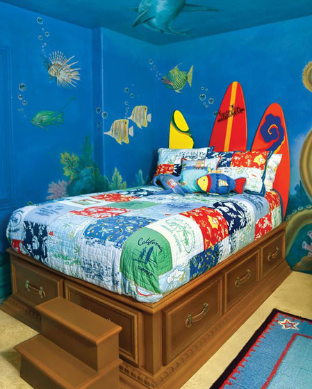 让孩子健康成长 19款儿童房手绘墙设计17/19