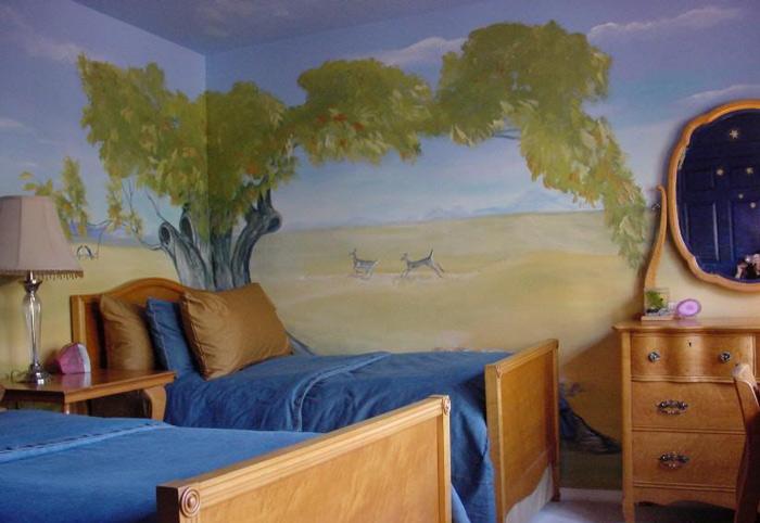 让孩子健康成长 19款儿童房手绘墙设计18/19