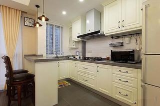 美式风格两室一厅120平米厨房婚房平面图