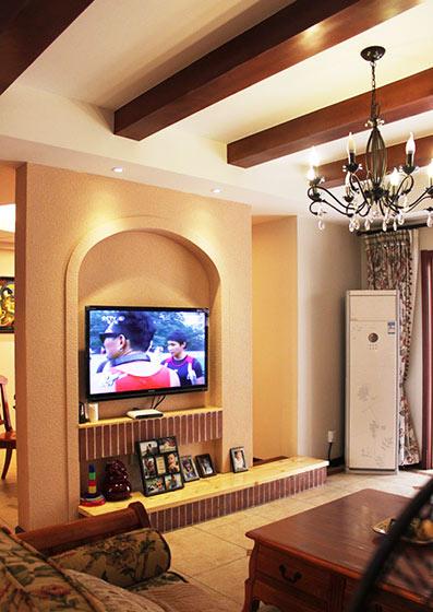 实用电视背景墙灯具效果图