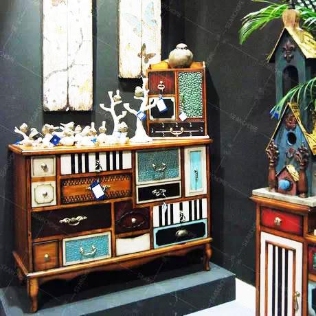 古典电视柜图片