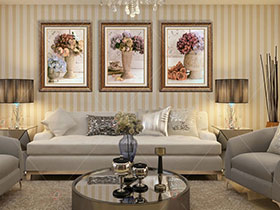舒适大气欧式客厅背景墙设计