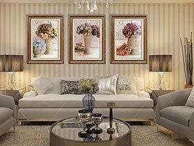 17张简约风格沙发背景墙效果图 简单大气