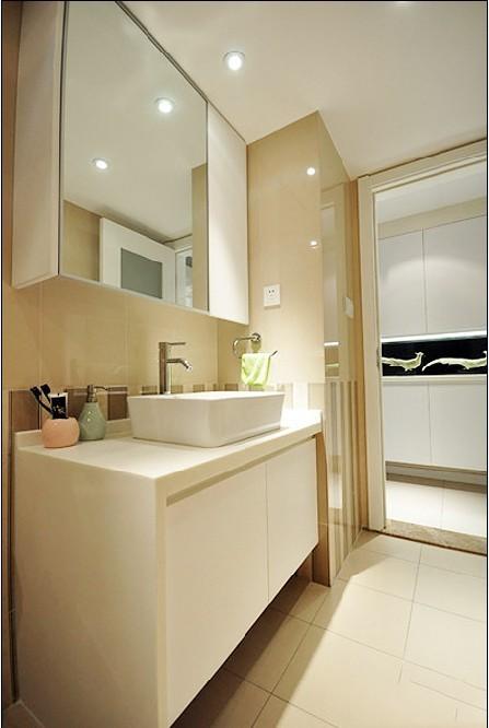 简洁白色洗手台效果图