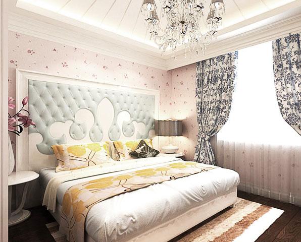 地中海风格温馨粉色壁纸效果图