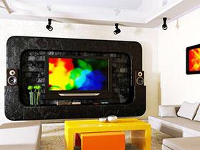 不拘一格的创意 13款电视背景墙图片