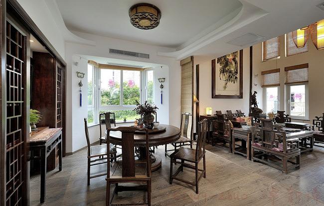 中式风格别墅稳重餐厅装修效果图