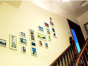 樓梯空間新創意 10款照片墻設計圖