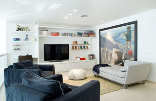 欧式风格大气白色电视柜效果图