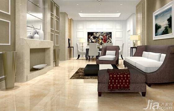 大气奢华 欧式客厅瓷砖效果图欣赏