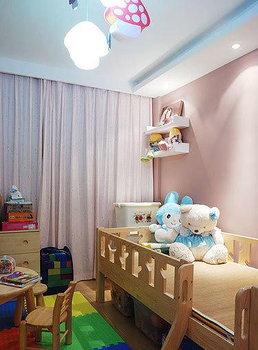 简约风格舒适儿童床图片