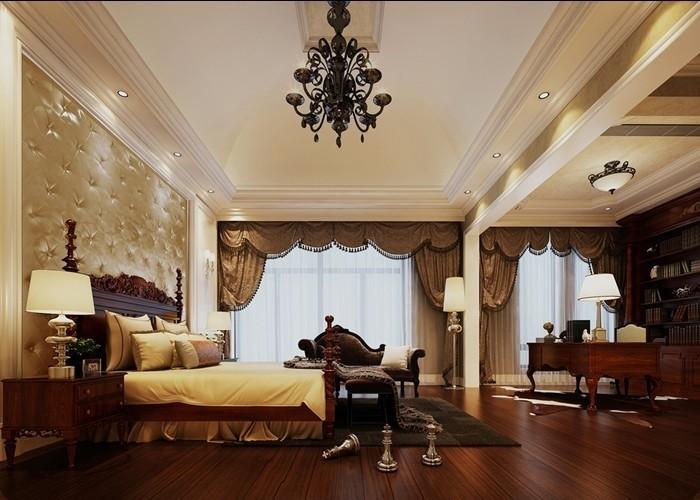 欧式风格豪华床头软包设计图片