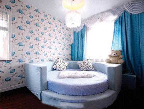 欧式风格白色床头软包效果图图片
