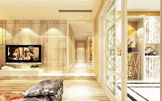 现代简约风格实用客厅过道装修图片