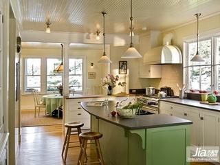 家庭厨房吧台装装修效果图