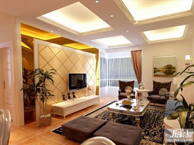 最新室内家居装修,欧式客厅软包电视背景墙大全装修图片图片