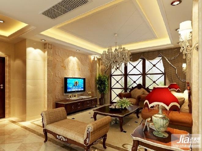 欧式电视背景墙,大理石电视背景墙设计装修效果图