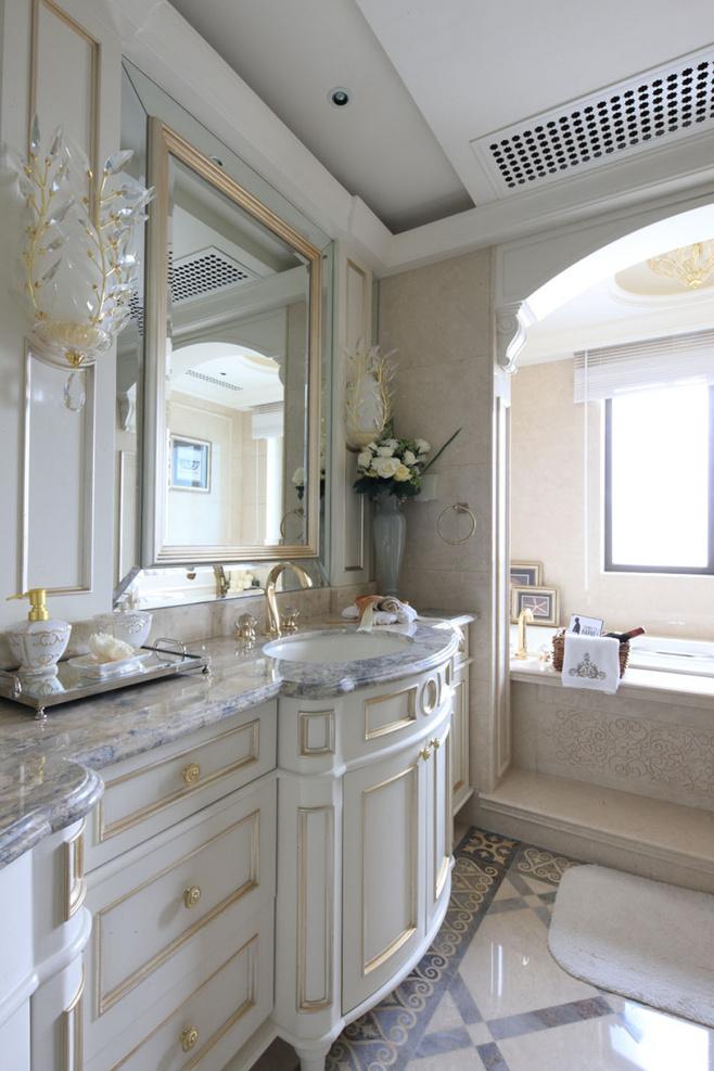 欧式风格白色洗手台效果图
