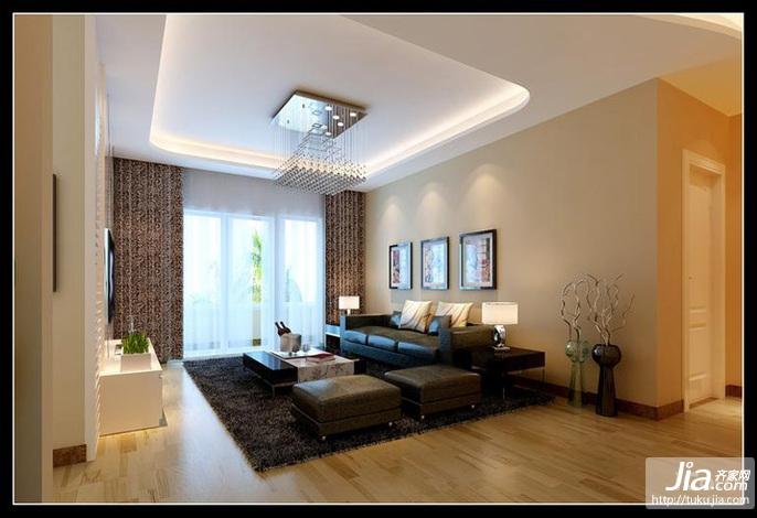 名流印象二居室93平米装修效果图高清图片