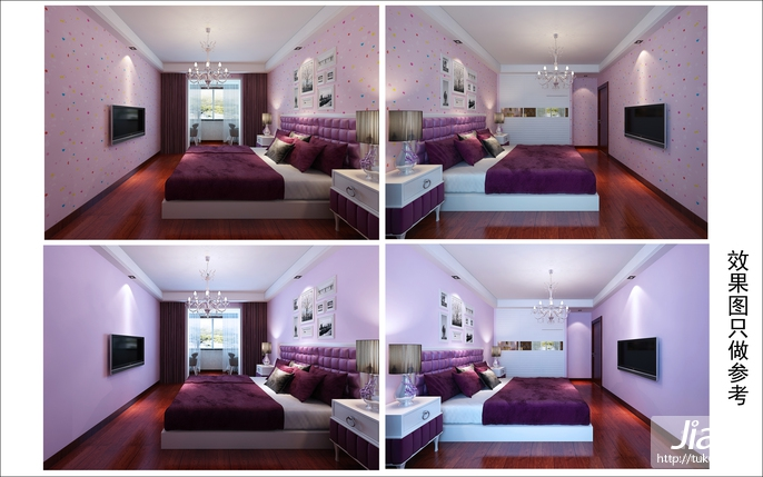 温暖的粉红,中式卧室装修图片