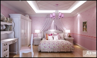 温馨粉色舒适小卧室装修效果图