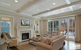 复式楼客厅装修效果图,欧式客厅欣赏装修图片