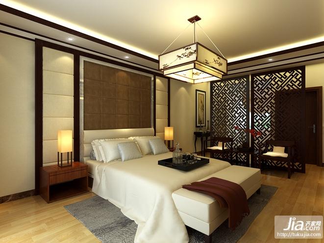 中式古典 温馨大气卧室装修图片
