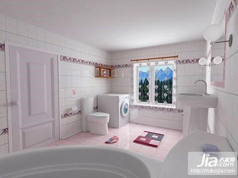 简单白色,精装卫生间装修图片
