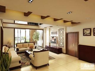 简约中式 大气实用客厅装修效果图