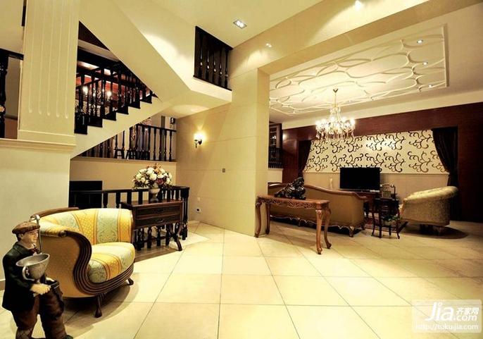 美式复式楼客厅装修效果图大全2012图片装修图片