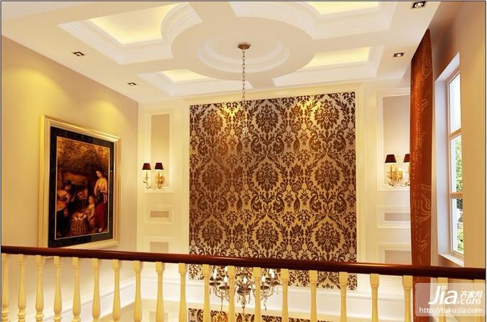280平联排别墅华丽典雅的空间感装修效果图