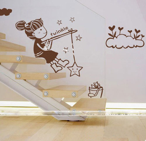 美式风格时尚手绘墙效果图