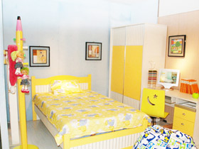 缤纷色彩 18款彩色儿童床效果图