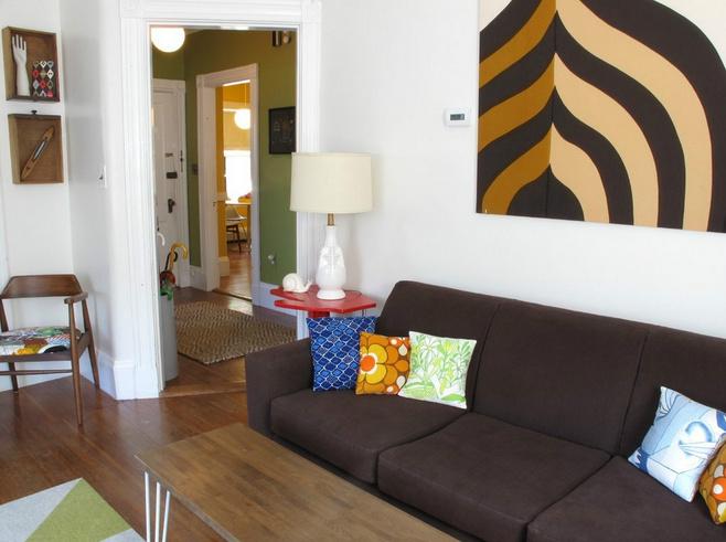美式风格黑白沙发背景墙效果图