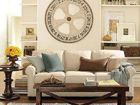 个性美式风 19张特色沙发背景墙设计图