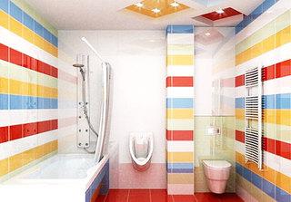 小清新卫生间瓷砖效果图
