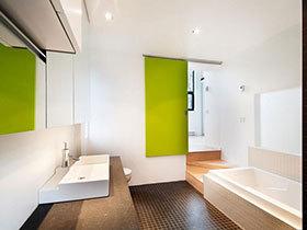 彩色卫浴间效果图 16款清新洗手台设计