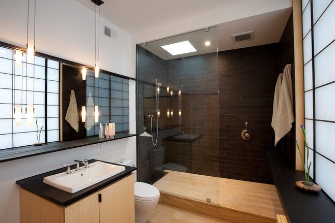 美式风格黑白洗手台图片