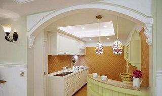 田园风格温馨90平米厨房设计