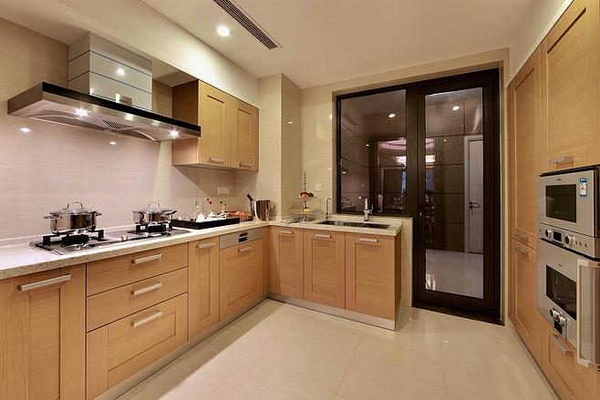 一体式厨房橱柜设计图片