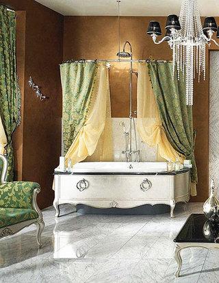 欧式风格卫生间浴缸图片