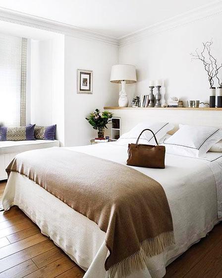 北欧风格舒适卧室地板图片