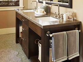 超實用的收納設計 20款衛浴柜圖片